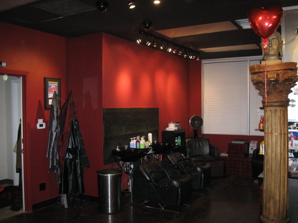 Track lighting project at beauty salon